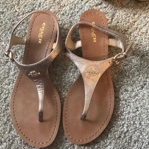 Coach rose gold sandals